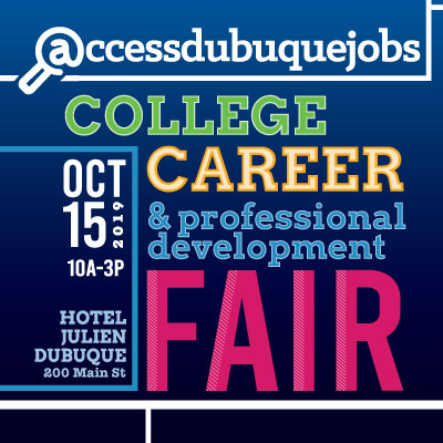Event Promo Photo For AccessDubuqueJobs.com College Career & Professional Development Fair - EMPLOYER INFO